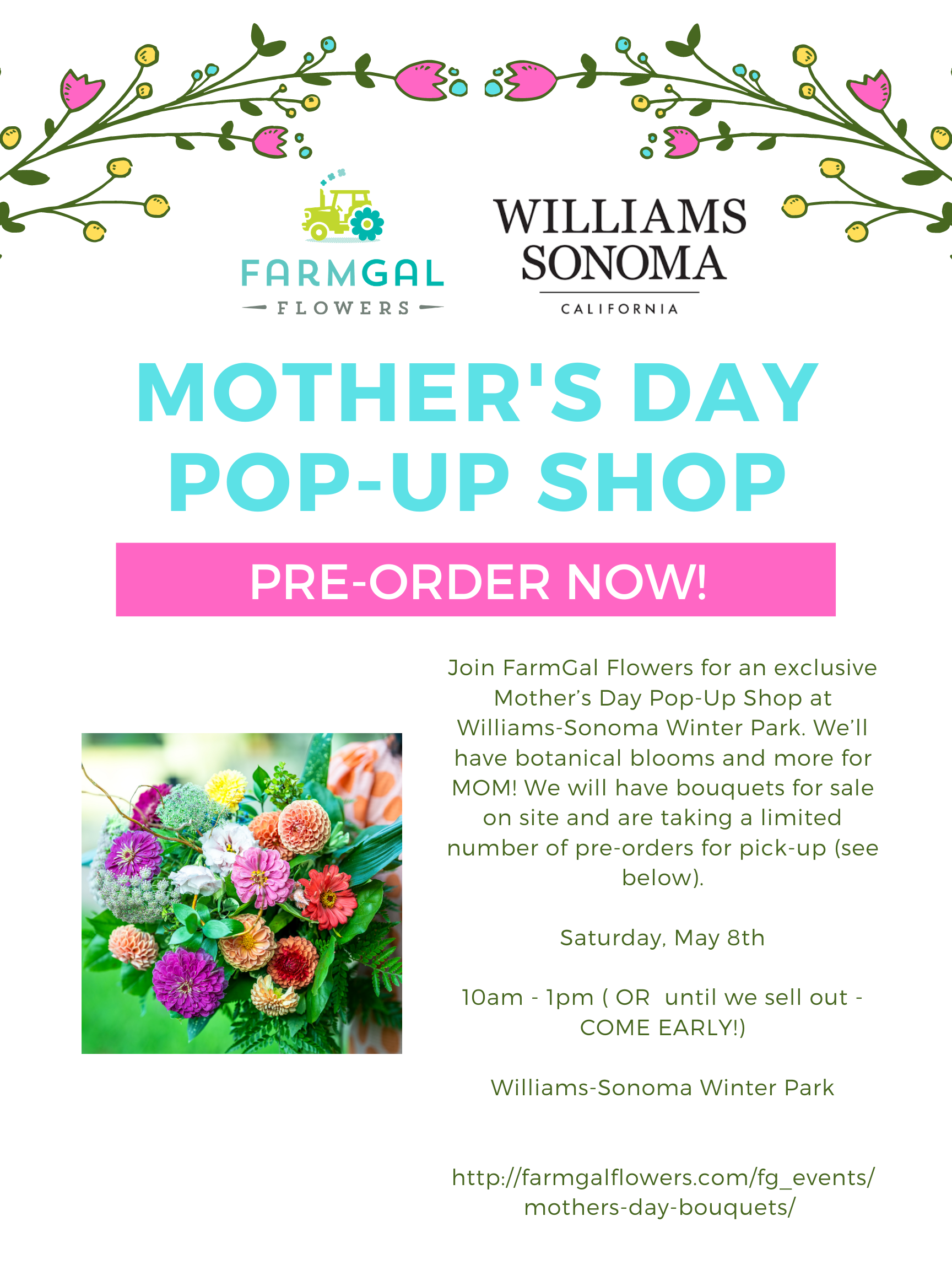 Mother's Day Bouquets with Williams-Sonoma Winter Park
